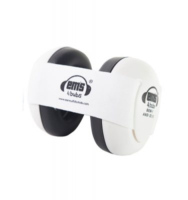 White Ems for Bubs Baby Earmuffs - White